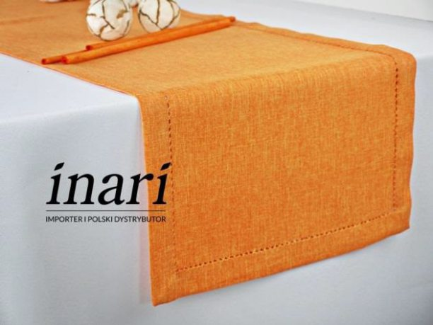 Bieżnik z mereżką 40x140 Pomarańczowy