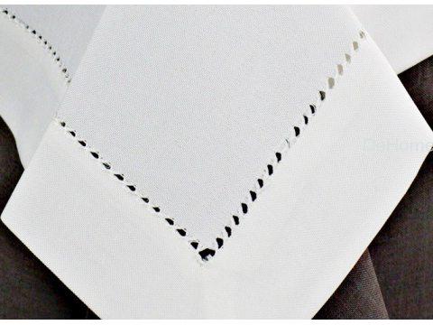 Obrus z mereżką 110x160  biały