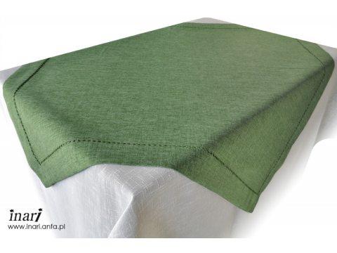 Obrus z mereżką 110x160  zielony
