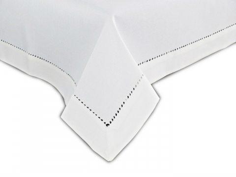 Obrus z mereżką 130x180  biały