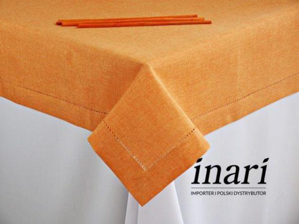 Obrus z mereżką  140x220 pomarańczowy