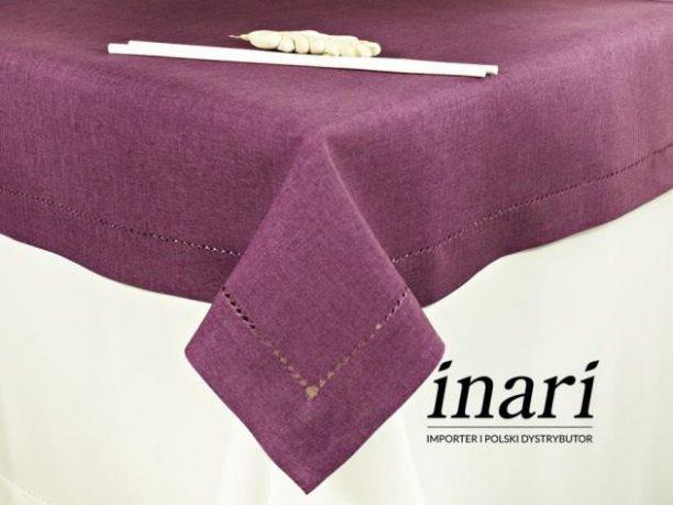 Obrus z mereżką 150x300  fioletowy