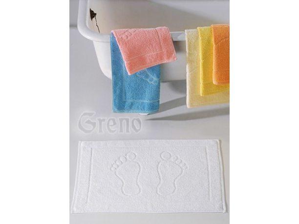 Dywanik łazienkowy Stopki  50x70 cm Biały  Greno