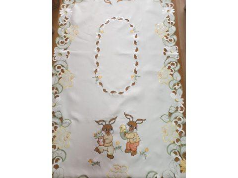 Bieżnik świąteczny -  Zajączki Wielkanocne - 60x120 cm    int 0099