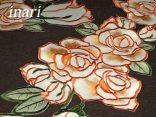 Szal haftowany 26x115 cm   Róża  c-2 pomarańczowa