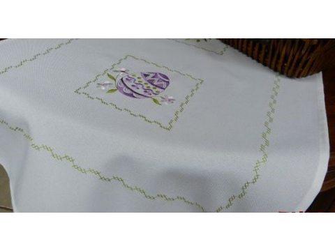 Bieznik Wielkanocny  60x120  Jajka fioletowe 3662-1
