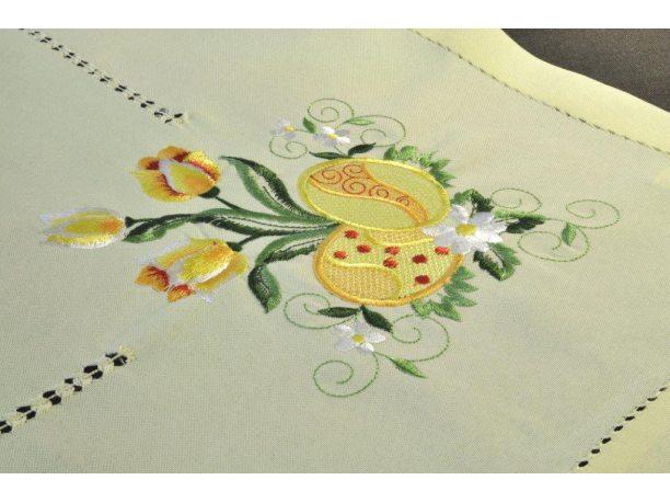 Bieżnik Wielkanocny - żółty ze stroikiem - 40x90 cm - wz. 489