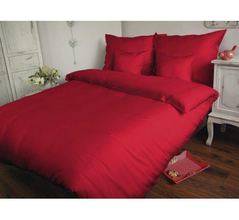 Pościel satynowa  jednobarwna  Carmen 140x200 Czerwona   029