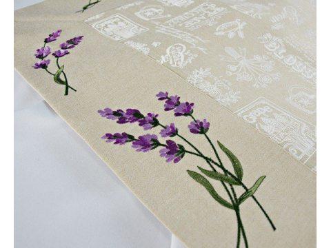 Bieżnik - z kwiatami lawendy - 60x120 cm - wz. 37969