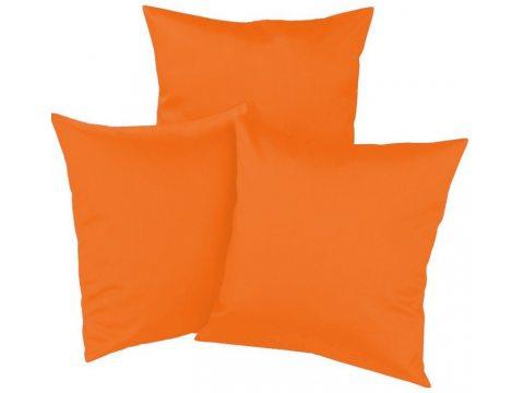 Poszewka  satynowa  jednobarwna 40x40 Pomarańczowa   035