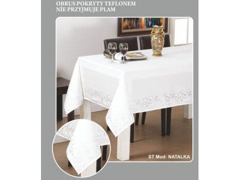 Obrus Dekoracyjny  Natalka  140x220 Biały  Lux 245
