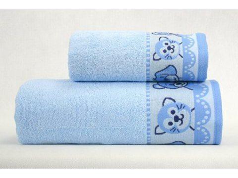 Ręcznik  Misie New 30x50  Niebieski  Greno