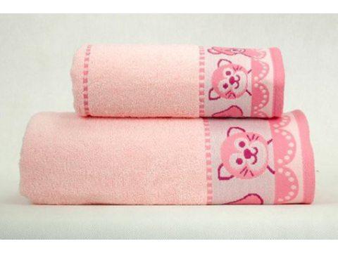 Ręcznik  dla dzieci Misie New 30x50  Różowy Greno