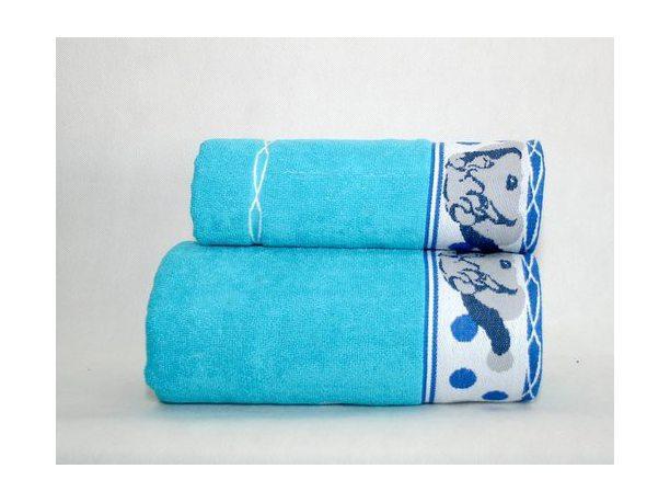 Ręcznik  dla dzieci Sharp Pei  70x125  Niebieski  Greno