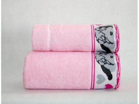 Ręcznik  dla dzieci Sharp Pei  70x125  Różowy  Greno