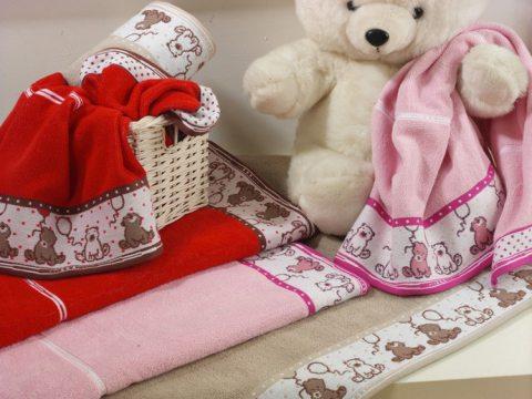 Ręcznik  dla dzieci Sweet Bear 70x125  Różowy Greno