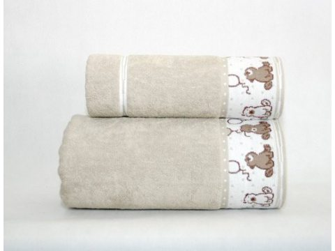 Ręcznik  dla dzieci Sweet Bear 70x125  Beżowy Greno