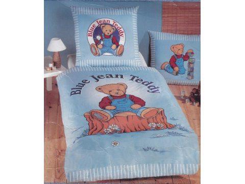 Pościel  dziecięca  135 x200  Blue Jean Teddy