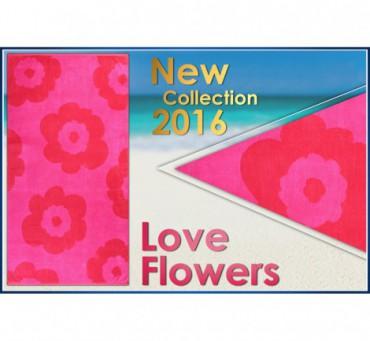 Ręcznik Plażowy kapielowy Love Flowers  100x180   Greno