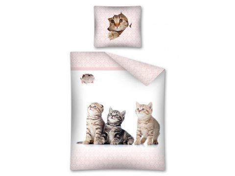 Komplet pościeli dziecięcej 160X200 The Cat 2278 A  / Kot  Sweet  Animals