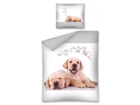 Komplet pościeli dziecięcej 160x200 The dog / Pies 2275 A  Sweet animals Labrador retriever