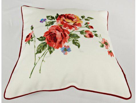 Poszewka dekoracyjna 40x40  Róża Wypustki  15708