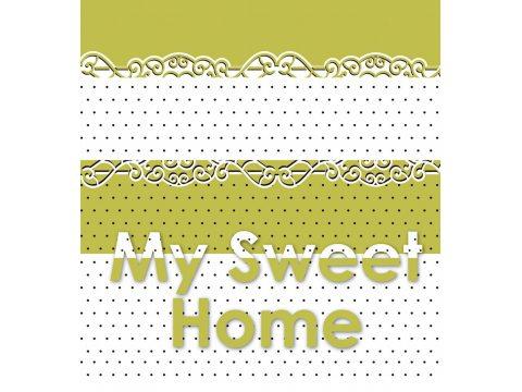 Komplet pościeli satynowej  My Sweet Home 220x200 Gold Line Greno