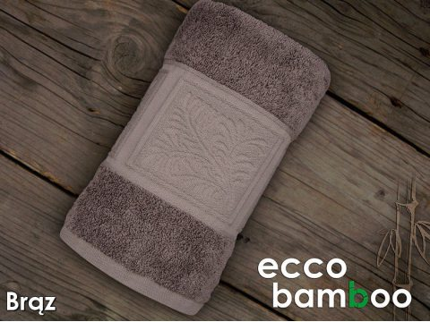 Ręcznik Ecco Bamboo 70x140  Brązowy Greno