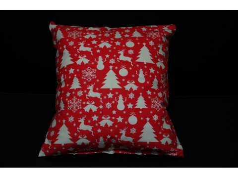 Poszewki Świąteczne  40x40 Świąteczna czerwona  Greno 2 szt