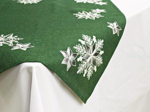 Haftowany bieżnik świąteczny  85x85 cm Laufer zielony  15974