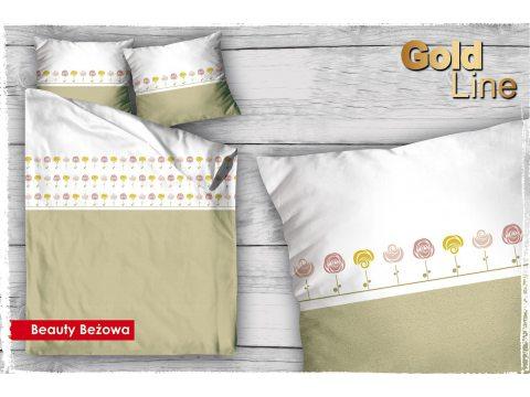 Pościel satynowa  Beauty Beż 160x200 Gold Line Greno