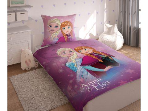 Pościel dziecięca Kraina Lodu  Anna & Elsa 140x200 Detexpol Fro 13  Frozen