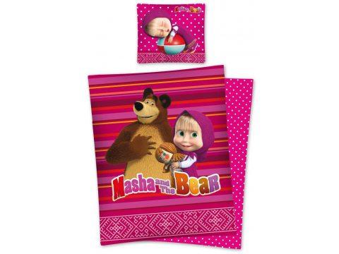 Pościel dziecięca 140x200 Masha and the Bear Masha 01