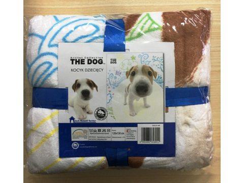 Koc dla dzieci 120X150 The Dog   kocyk z mikrofibry  Pies 01
