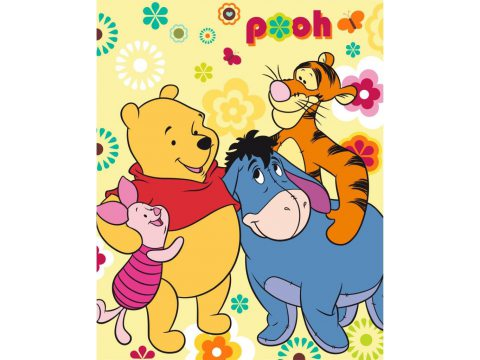 Koc dla dzieci 120X150 Winnie the Pooh  kocyk z mikrofibry   WTP 01