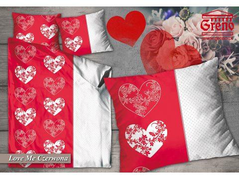 Pościel z bawełny  Love Me Czerwona  140x200  Greno
