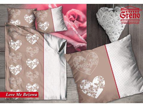 Pościel z bawełny  Love Me Beżowa140x200  Greno