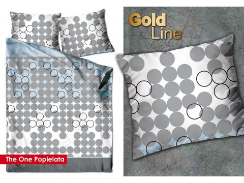 Pościel satynowa 220x200 The One Popielata Greno Gold Line Jeden