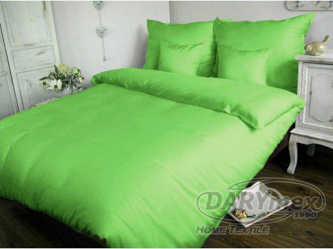 Jednobarwna pościel satynowa  Carmen 140x200 zielony 014