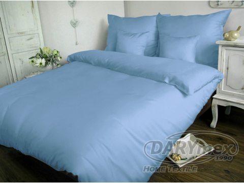 Jednobarwna pościel satynowa  Carmen 160x200 Niebieski 009
