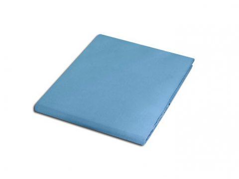 Prześcieradło satynowe 160x220 Niebieski 009  bez gumki