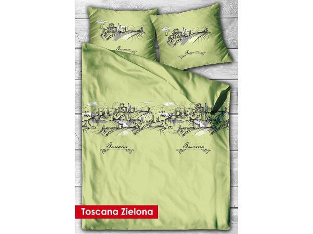 Kpl. Pościeli z satyny Toscana  Zelona 220x200 Gold Line Greno
