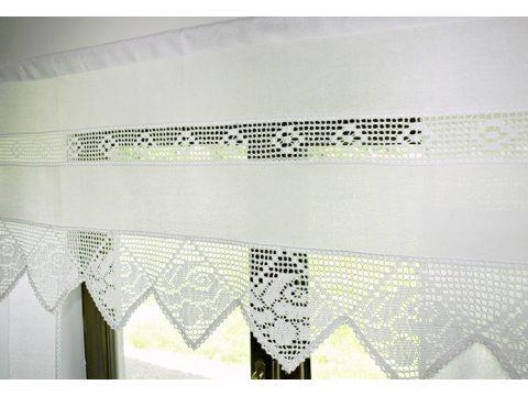 Zazdrostka 50 x 150 Idylla Biała firana   613