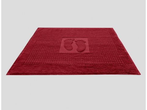 Dywanik łazienkowy Stopki Kolor  50x70 cm Czerwony