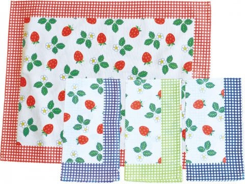 Ściereczka kuchenna 55 x 66 Truskawka zielona