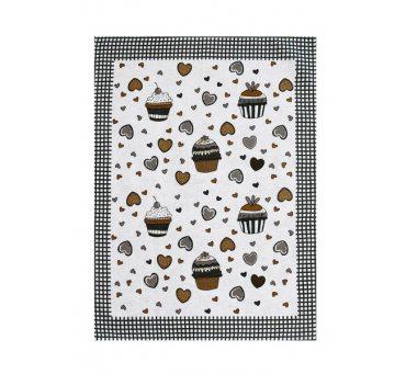 Ściereczka kuchenna 55 x 66 Muffinki szary