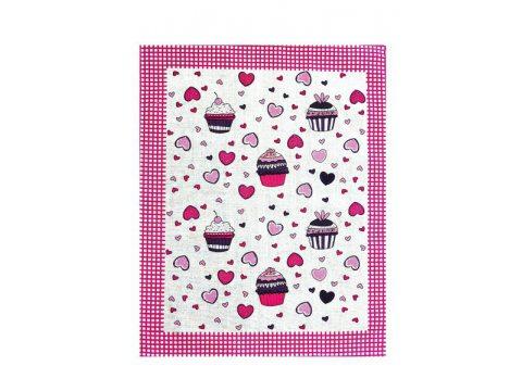 Ściereczka kuchenna 55 x 66 Muffinka różowa