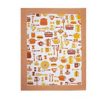 Ściereczka kuchenna 55 x 66 Talerz pomarańczowy