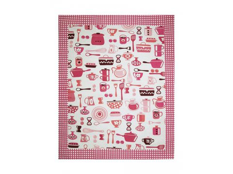 Ściereczka kuchenna 55 x 66 Talerz różowy