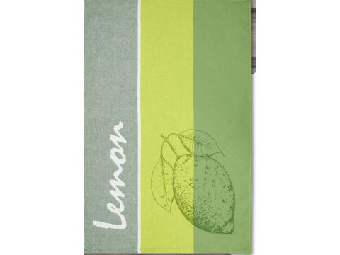 Ściereczka kuchenna - Lemon - oliwkowa z cytryną -  50x70 cm - Nowo Gusto - Greno